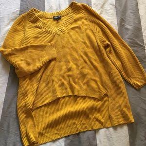 express oversized yellow sweater